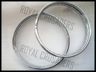 New Norton BSA Front and Rear Stainless Steel Wheel Rims 19