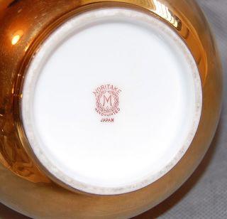 Noritake Japan Gold Body Pink Rose Porcelain Vase