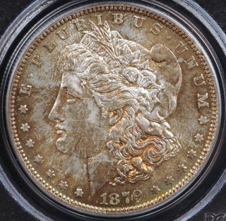1879 Morgan Silver Dollar PCGS MS63 Nice Golden Toned