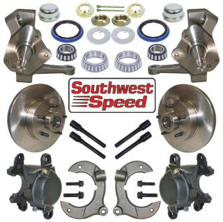 Deluxe Hot Rod Front Brake 2 Drop Spindle Kit 5x4 50