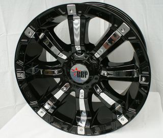 20 inch 94R Rolling Big Power RBP Black Rims Wheels