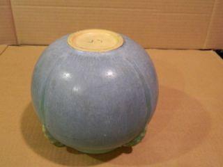 Roseville Topeo Spherical Vessel Blue Green 1934