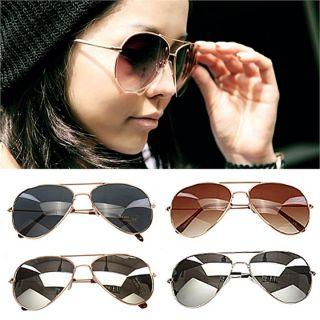 New Fashion Men Women Classic Retro Aviator Oversize Sunglasses Metal