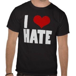 Love Hate (black) T Shirts