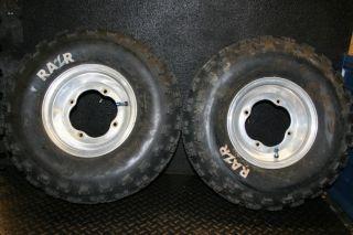 2002 Yamaha Raptor 660 YFZ450 ITP Front Wheels Tires Rim