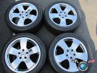 03 05 Mercedes E320 E500 Factory 17 Wheels Tires Chrome OEM Rims