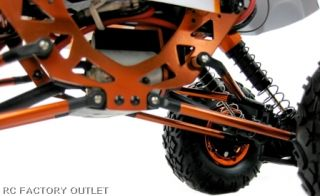 Center mounted High Torque RC 260 Motor, Skid Plates Front and Rear