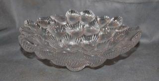 Royal Copenhagen Crystal Musling Shell Glass Bowl Designed by per
