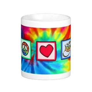 Peace, Love, Snare Drum Coffee Mugs