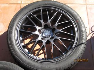 17 Enkei EKM3 Gunmetal Wheels Rims and Tires Hankook L K Spare