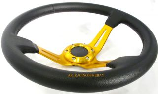 This auction is for A brand new 350mm Drifting Steering wheels in Gold