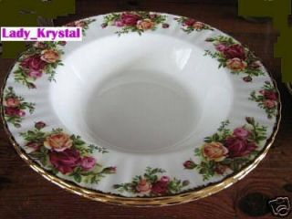 Set 4 Royal Albert Old Country Roses Rim Soup Bowls