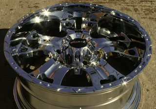 Road Hostel 811 20 Chrome Rims Wheels Toyota Tacoma Tundra 6H