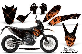 AMR KTM Graphic Kit Sticker Decal 690 SM Endro Parts Number Plate