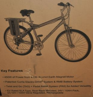 eZip Trailz Electric Powered Bicycle Currie Grey