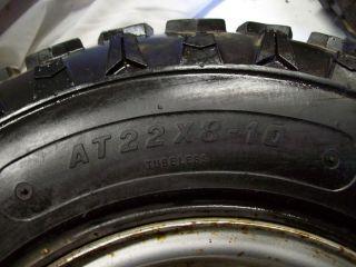 ATV Suzuki Lt 230 E Quadrunner Front Wheels Tires 4 Max Carlisle 22 x