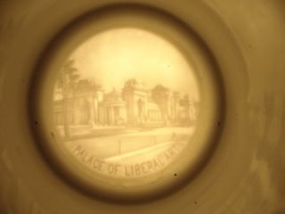 1904 St. Louis Worlds Fair China Stein. Lithophane Bottom Palace of