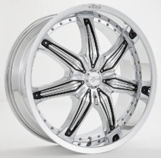 20inch Rims and Tires Wheels 22 24 26 Chrome Effen 412