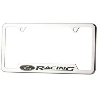 Ford Racing License Plate Frame Stainless Steel Brushed Ford Racing