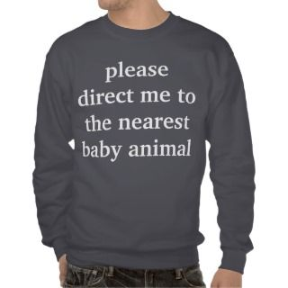 baby animal pull over sweatshirt