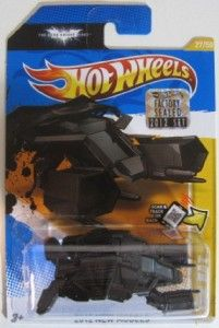 Hot Wheels The Bat Batman Batmobile Dark Knight Rises Factory Master