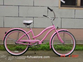 New 24 Beach Cruiser Bicycle Bike Micargi Rover Pink