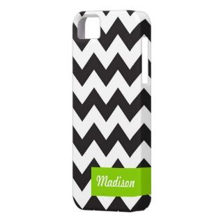 modern chevron black and white zig zag pattern iPhone 5 case