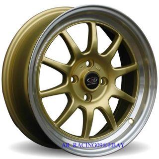 15 Rota Rims GT3 Gold Cobalt Lancer Integra Del Sol XA