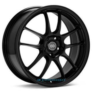 18 18x10 5 Enkei Wheels PF01 Black 350Z 370Z G35 G37