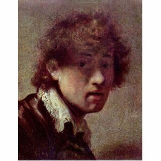 Self Portrait At An Early Age. By Rembrandt Van Acrylic Cut Out