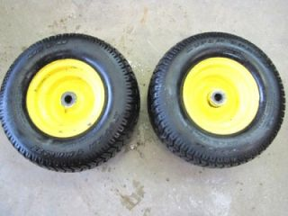 Deere Tractor STX 38 FRONT WHEELS AND TIRES RIMS 16 X 6.50 6 NICE g305