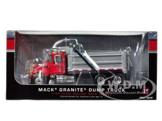 Mack Granite Dump Truck Red Silver 1 64 Diecast Model by First Gear 60