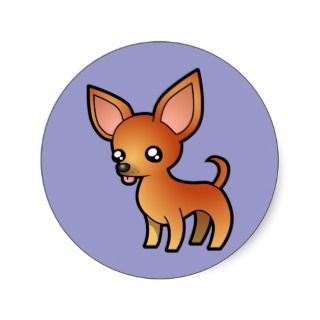 Cartoon Chihuahua (red smooth coat) stickers by SugarVsSpice