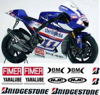 This auction for a YAMAHA R1 R6 BEN SPIES RACE BELLY DECAL KIT .