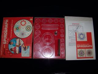Kenners New Spirograph No 401 Vintage 1968 Toy Drawing Set