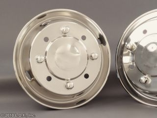 90 2002 Chevy GMC 19 5 x 6 75 Stainless Dually Wheel Simulators Liners