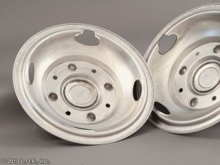 2005 2010 Ford 17 x 6 5 Stainless Dually Wheel Simulators Liners 8 Lug