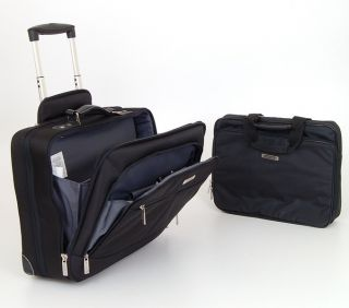 Wheeled Business Case 2 in 1 Free Laptop Portfolio + Rolling Briefcase