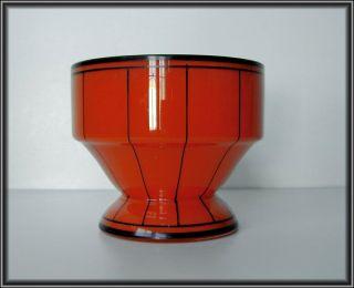 MODERNIST CZECH ENAMEL TANGO GLASS VASE ~Hoffmann Werkstatte Deco