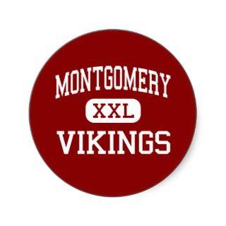 Montgomery   Vikings   High   Santa Rosa Round Stickers