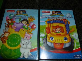 Fisher Price Little People DVD Lot of 6 Vol 1 2 3 4