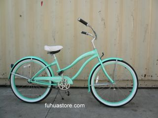 New 26 Beach Cruiser Bicycle Bike Micargi Rover Lady Mint Green