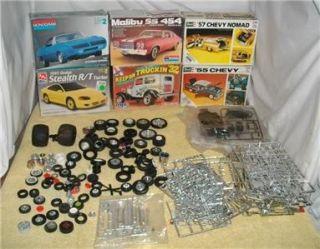 Junkyard Model Car Parts Tires Rims Misc Parts Some Boxed Lot A