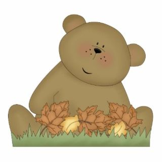 enjoying autumn teddy bear photo cut out