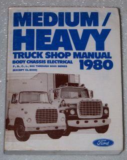 1980 Ford Medium Heavy Duty Truck F600 F700 LT9000 B600 Shop Service