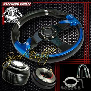 32cm Steering Wheel Hub Quick Release Honda Accord Prelude Black Dish