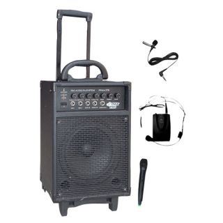 PWMA370 300W Wireless Rechargeable Portable PA System W/ Handheld