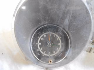 71 73 Mustang Instrument Cluster Bezel with Gauges Clock Used