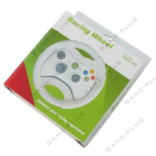Plastic Racing Steering Wheel for Xbox 360 Controller Light Grey