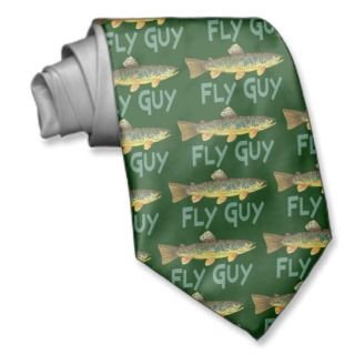 Trout Fly Fishing Neckties